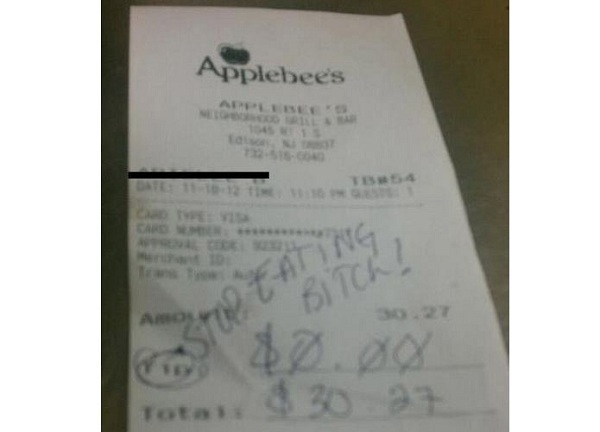 The infamous receipt circulating Reddit.