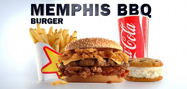 Buy a Memphis BBQ burger and get a free ice cream sandwich.