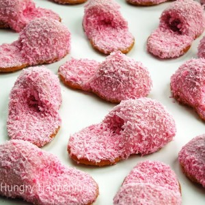 Mother's Day recipes pink fuzzy slipper cookies