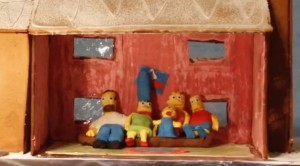 Simpsons Sitting Down