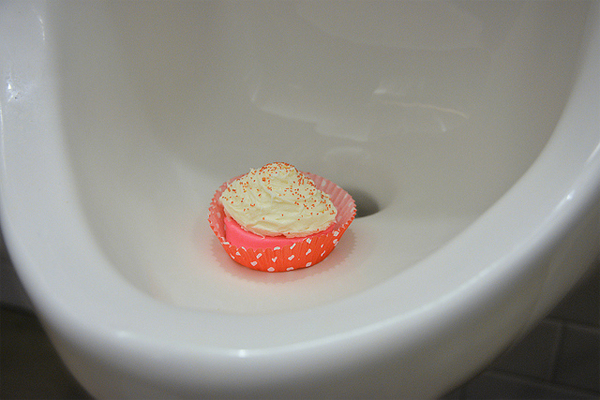 Urinal Cakes Shaped Like Actual Cakes Let You Pee Over
