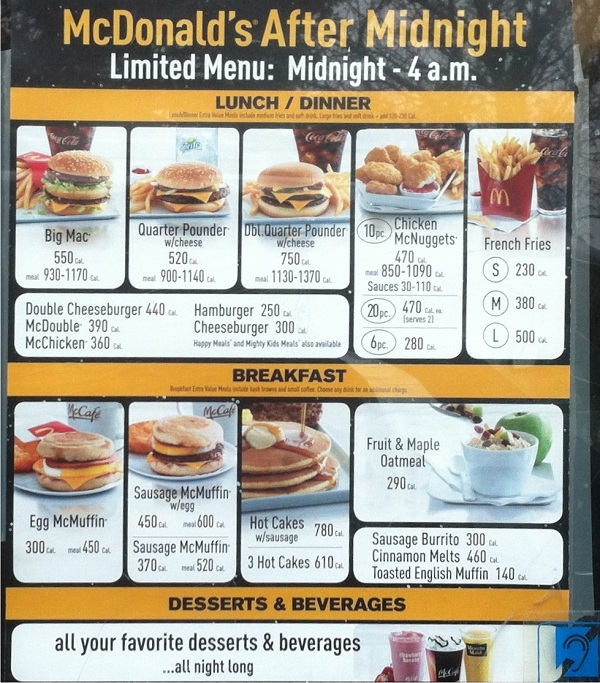 Mcdonald S Testing After Midnight Munchies Menu