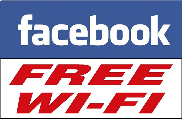 Free Wi-Fi through Facebook.