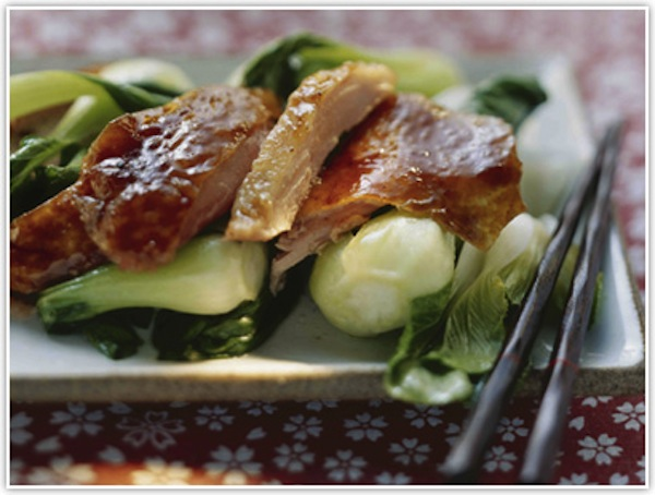 honey-peppercorn-duck-with-steamed-baby-pak-choi