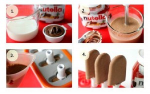 Nutella Popsicles in four steps