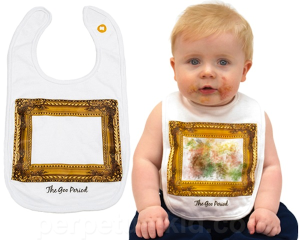 DAW: Clever Baby Bib Turns Gross Messes Into Food Art