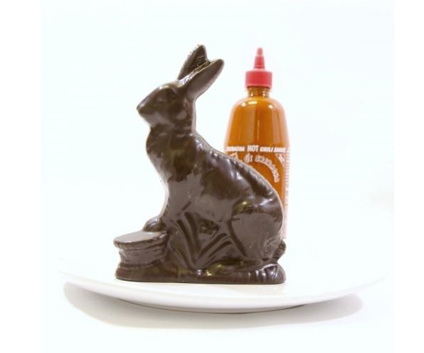 dark chocolate sriracha bunny