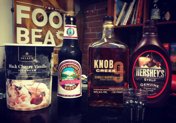 bourbon raspberry float ingredients