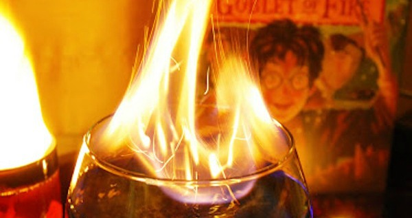 This goblet of fire drink recipe from little pink blog won t get you