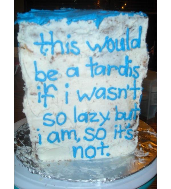sad tardis cake