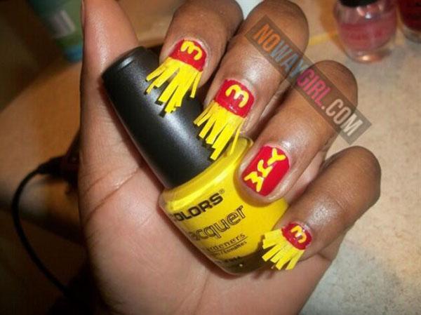 fry nail art