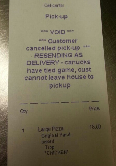 pizza receipt