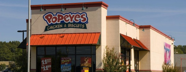 Popeyes Chicken Biscuits Restaurant USA. Image shot 2012. Exact date unknown.