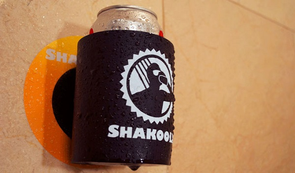 The shower beer koozie