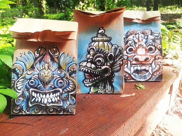 brown bag art