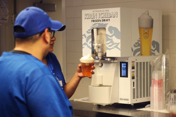 Dodger Stadium Serves Frozen Beer Foam Keeps Drink Cold