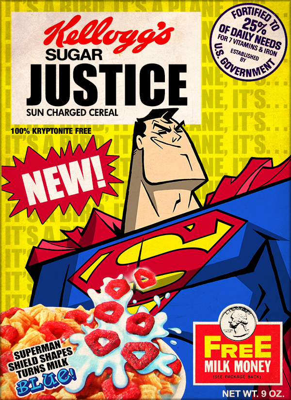 superman cereal design
