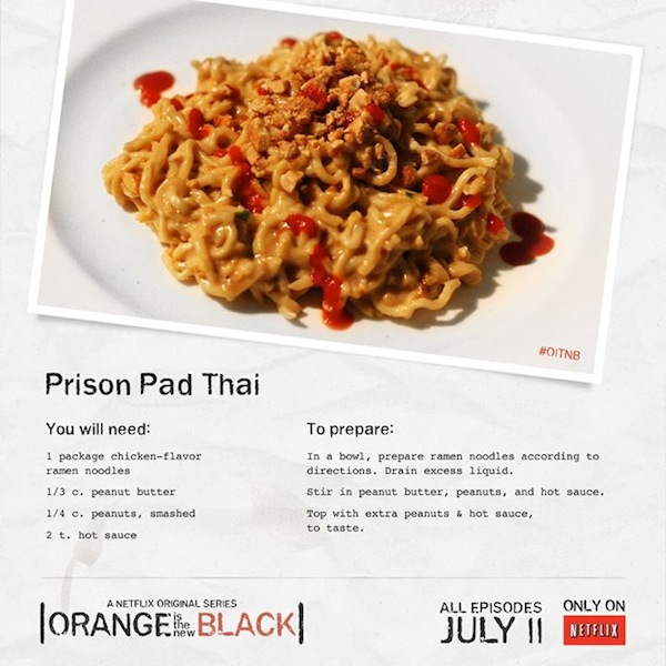 jail ramen recipes Obsession the Your Prison Black' Recipes Inspired is Feed New 'Orange