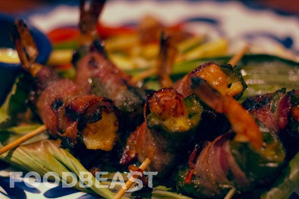 Jalepeno Bacon Wrapped Wild Mexican Shrimp El Torito Flavors of Baja Menu